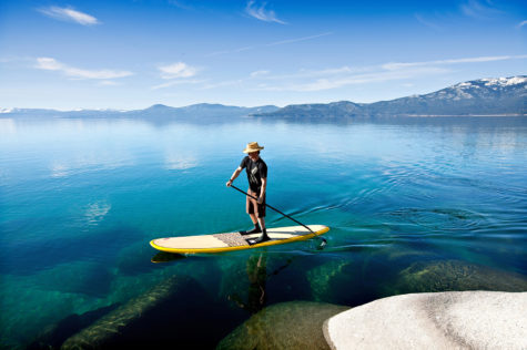 Experience the warmth of Lake Tahoe by Paddleboard