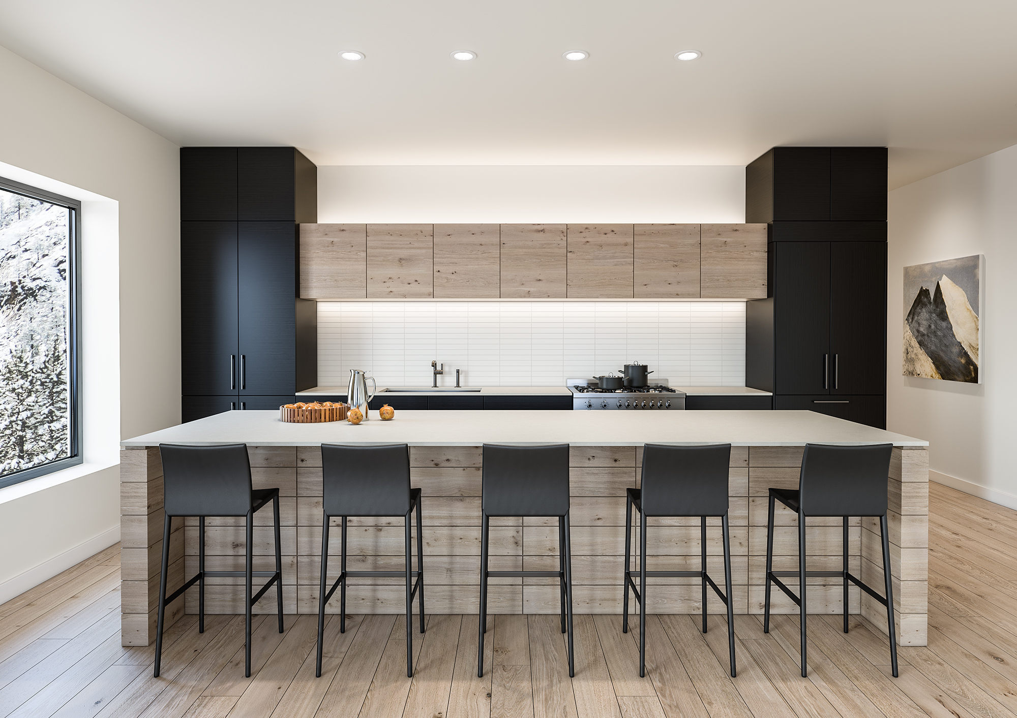 Modern Residential Kitchen of PlumpJack Squaw Valley